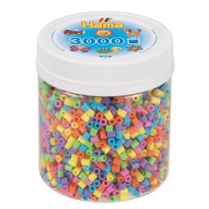 Hama Midi Pärlor i burk 3000 st Pastel Mix 50