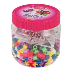 Hama Maxi Pärlor och pärlplattor i burk 400 st Rosa