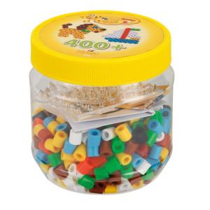 Hama Maxi Pärlor och pärlplattor i burk 400 st Gul