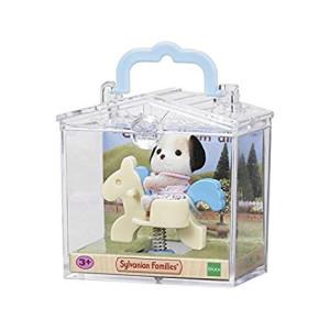Sylvanian Families Baby med leksak i väska 3340 Vitt Gungdjur
