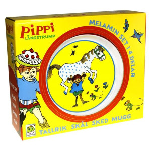 Pippi Melamin Barnservis Gift Box