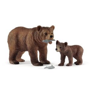Schleich Grizzlybjörn med unge 42473