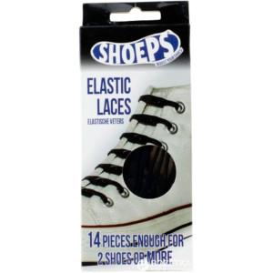 Shoeps Elastiska Skosnören Svarta