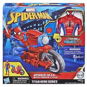 Spiderman Power Cycle med figur