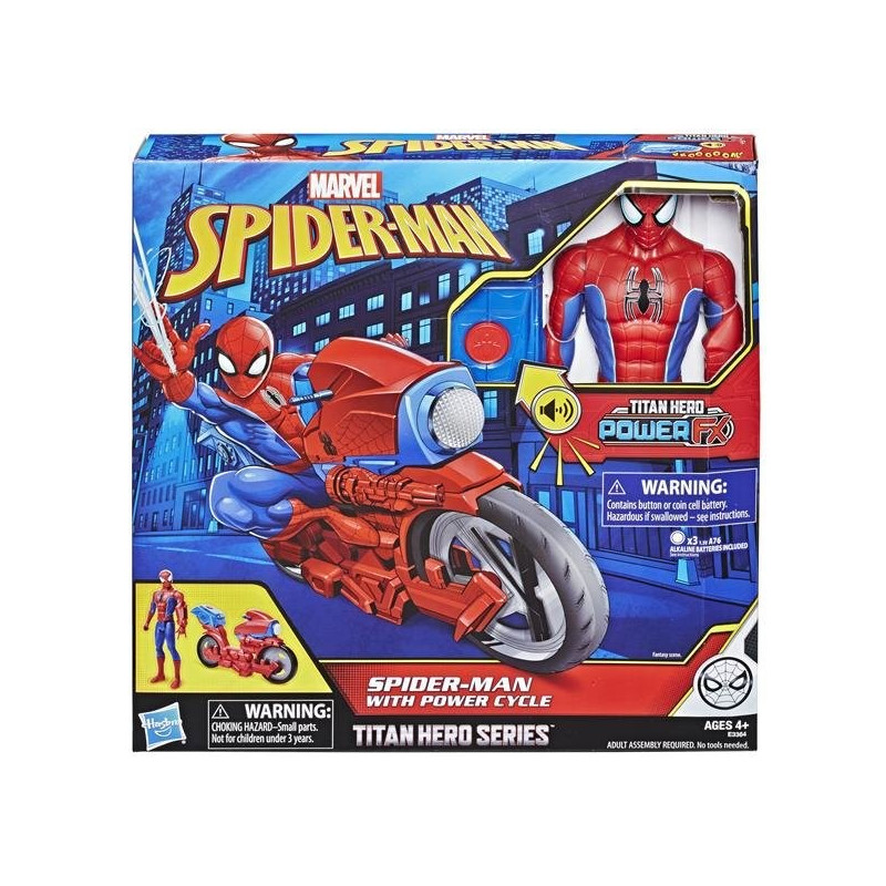 Spiderman Power Cycle med figur
