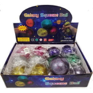 Klämboll med glitter 60mm
