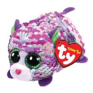 TY Teeny Tys Flippables Lilac Lila Katt