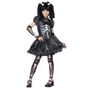 Maskeraddräkt Skelettklänning Teen XS