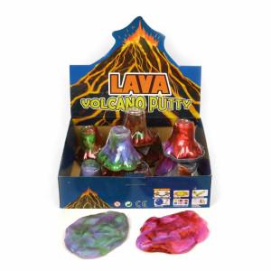 Lava Vulkan Klämlera Slime