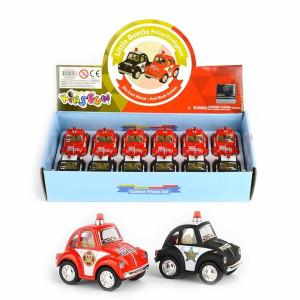 VW Beetle Utryckningsfordon Mini med pullback
