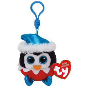 TY Beanie Boos Clip Sugarplum Pingvin Jul