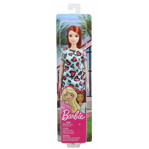 Barbie Docka Turkos klänning GHW48