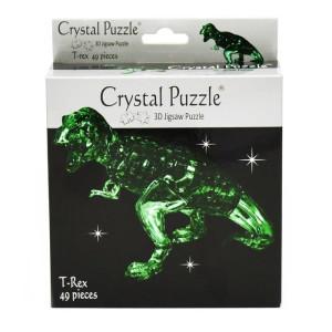 Crystal Puzzle 3D T-Rex Grön 49 bitar