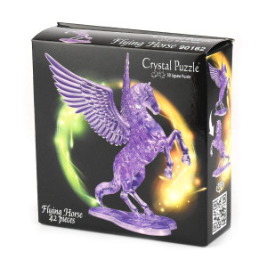 Crystal Puzzle 3D Flygande Häst Lila 42 bitar