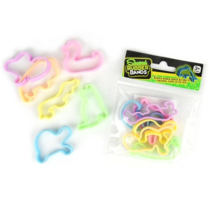 Shaped Rubber Bands Glow in the dark
