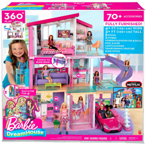 Barbie Dreamhouse Trevåningshus med möbler