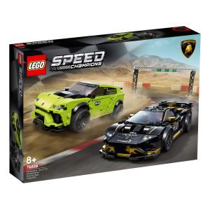 LEGO® Speed Champions Lamborghini Urus ST-X & Lamborghini Huracán Super Trofeo E