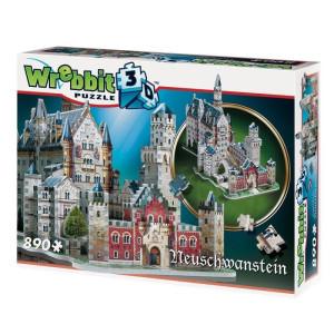 Wrebbit 3D Pussel Neuschwanstein 890 bitar