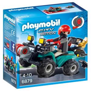 Playmobil® City Action Rånare på fyrhjuling 6879