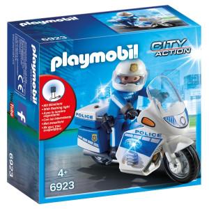 Playmobil® City Action Poliscykel med LED-ljus 6923