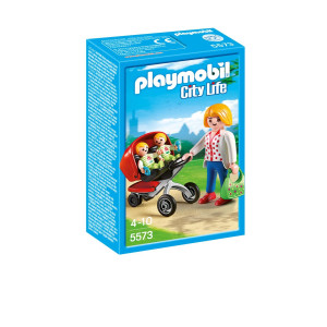 Playmobil® City Life Mamma med tvillingvagn 5573