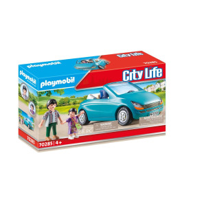 Playmobil® City Life Pappa och barn med en cabriolet 70285