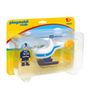 Playmobil® 1.2.3 Polishelikopter 9383