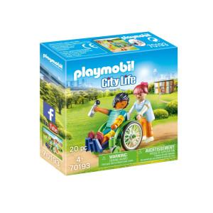 Playmobil® City life Patient i rullstol 70193
