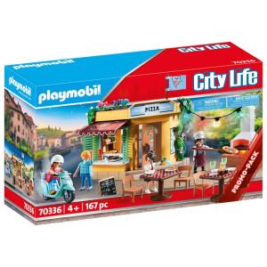 Playmobil® City Life Pizzeria med uteservering 70336
