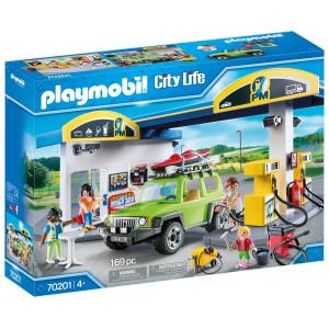 Playmobil® City life Stor bensinstation 70201