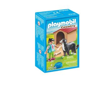 Playmobil® Country Hund med hundkoja 70136