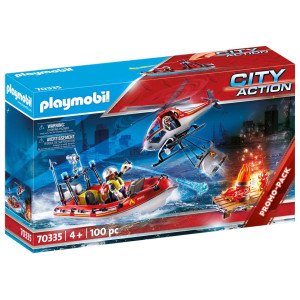 Playmobil® City Action Brandkår med helikopter och båt 70335