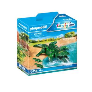 Playmobil® Family Fun Alligator med ungar 70358
