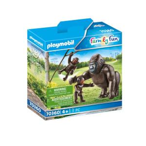 Playmobil® Family Fun Gorilla med ungar 70360