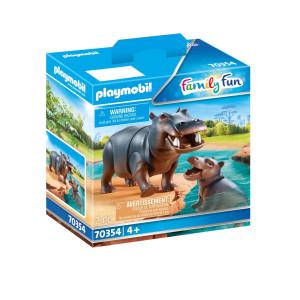 Playmobil® Family Fun Flodhäst med unge 70354