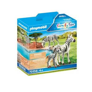 Playmobil® Family Fun Två zebror med unge 70356