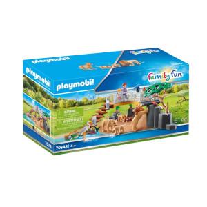 Playmobil® Family Fun Lejon i inhägnad 70343