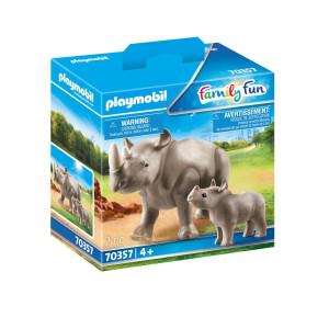 Playmobil® Family Fun Noshörning med unge 70357