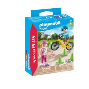 Playmobil® Special Plus Barn med rullskridskor och cykel 70061
