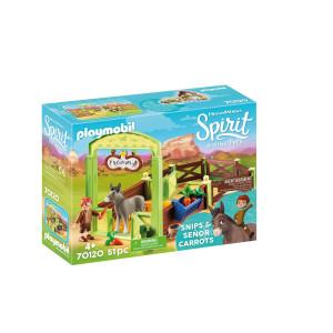 Playmobil® Spirit Snips och Herr Morot med häststall 70120