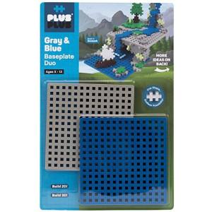 Plus Plus Basplatta 2-pack Grå och Blå