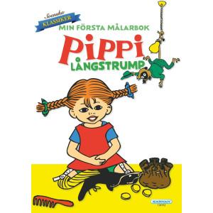 Pippi Min Första Målarbok