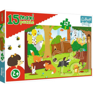 Trefl Animal in the Forest Maxi Pussel 15 bitar 14276