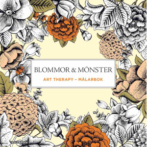 Blommor & mönster Art Therapy målarbok