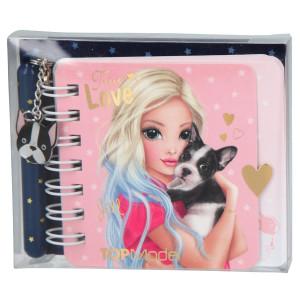 TOPModel Minianteckningsbok med penna True Love