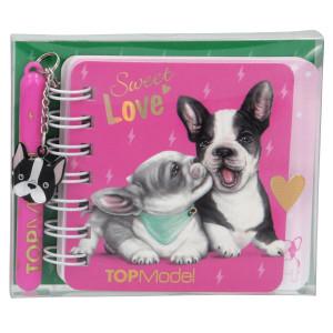 TOPModel Minianteckningsbok med penna Sweet Love